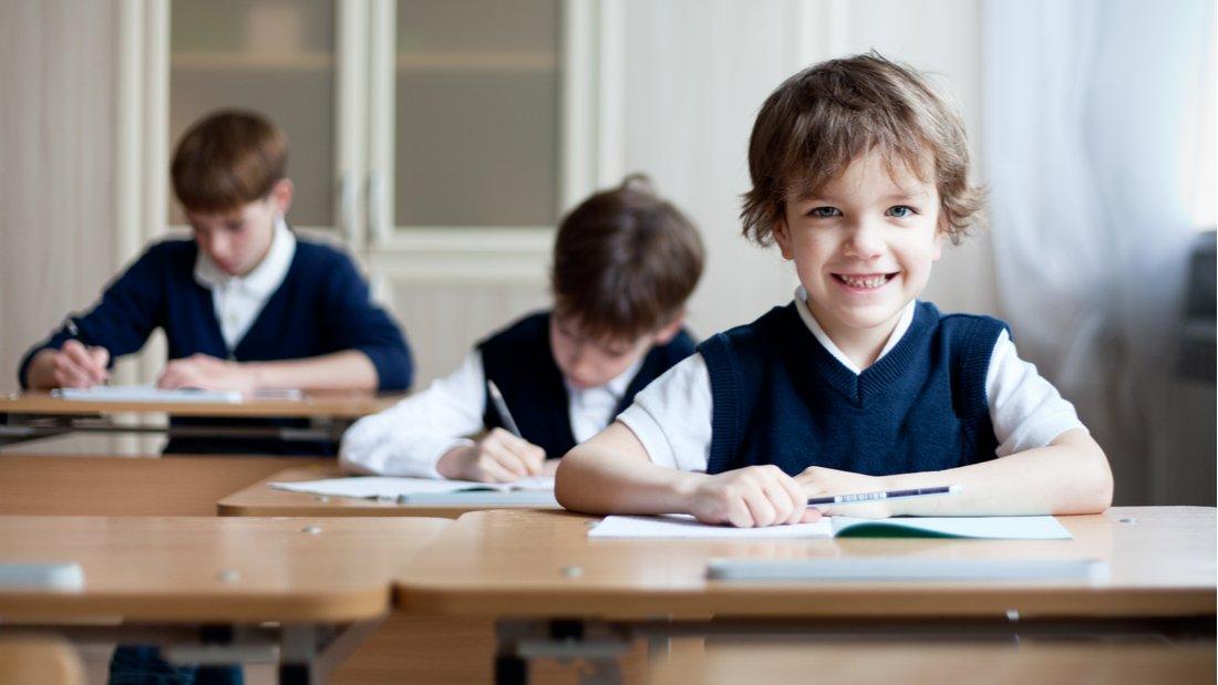 Children in a school classroom