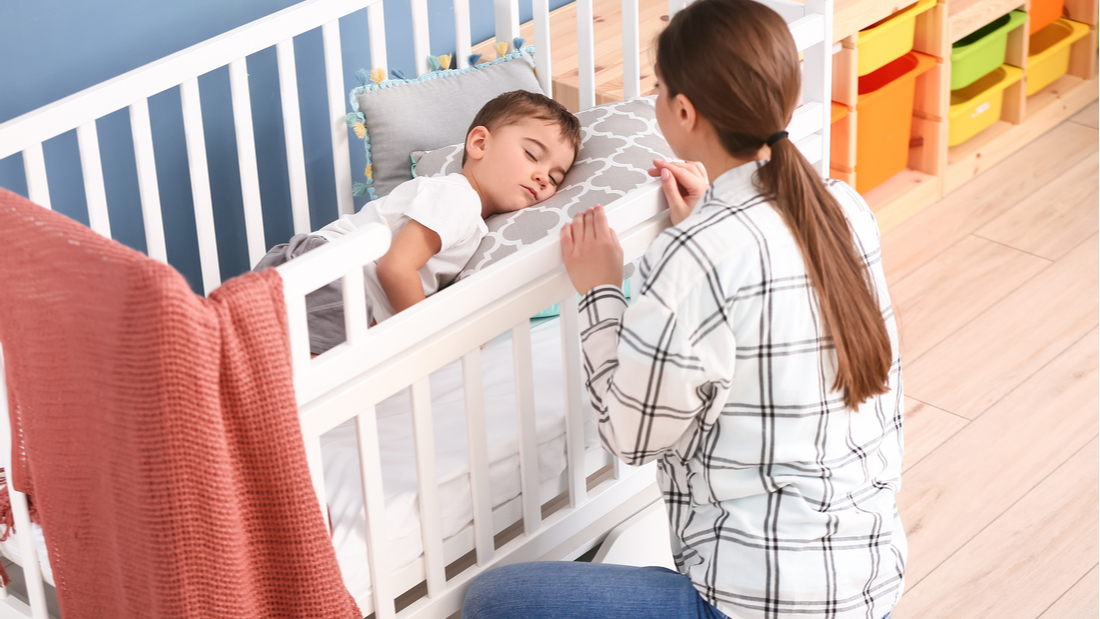 Babysitter looking after child