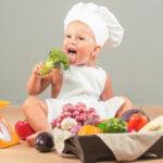 baby eating healthy foods